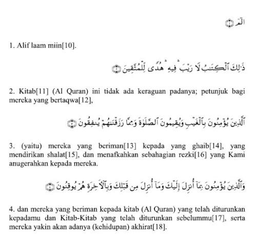 10 ayat al baqarah