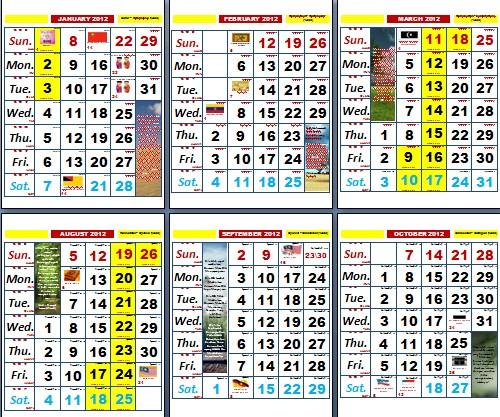 Penanggalan Malaysia: Free Download Kalender 2016 Dan Hari Libur
