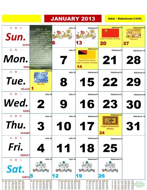 Calendar Kuda : Kalender kuda free to download and print