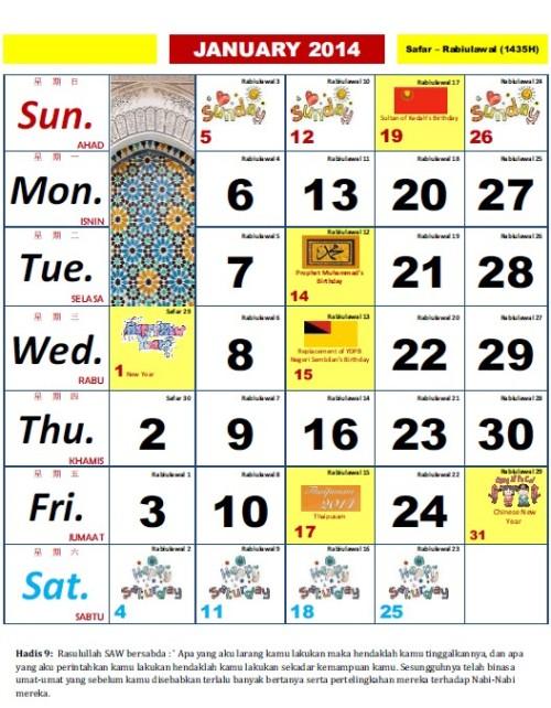 Kalender kuda 2014